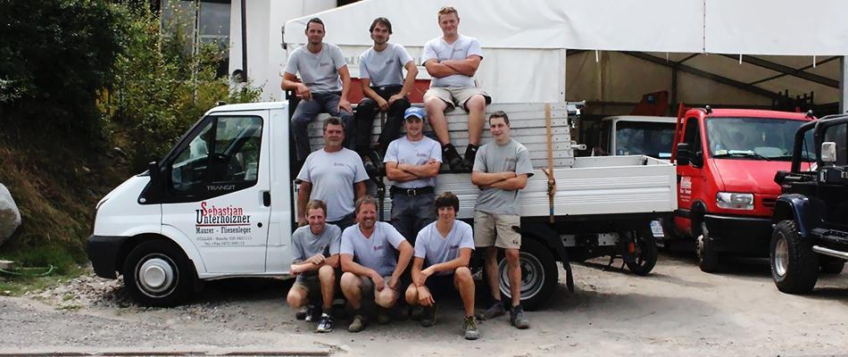 Team des Maurer Sebastian Unterholzner